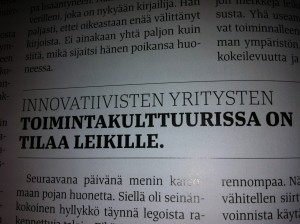 Source: Fakta magazine (in Finnish). October 2013. Article: Leikistä työtä? by Maaretta Tukiainen.