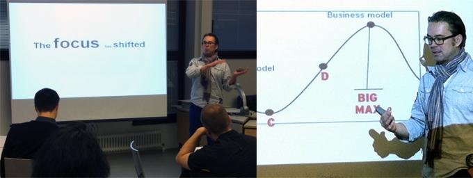 Ola Sundell is explaining the essence of lean start-up methodology.