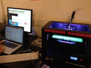 2013, New York, The US. 3D printing at New York University. Photo credit: Erika Pursiainen, Innovation Unit, UNICEF NYHQ