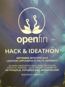 Openfin hack and ideathon poster