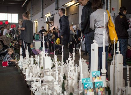 A lego city designed by kids at Helsinki Design Week.