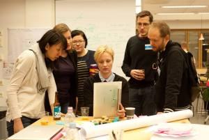 "Our team, the cardboardboxcrew (from the left) Chien-Ting ""Jessie"" Hsu, Susanna Turunen, Pia Wenelius, Emmi Joru, Mika Kuivamäki and Antti Kytö."