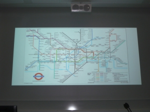 Comparison of the demanding search for a mental professional to the London subway maze