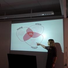 Katja Tschimmel in class room